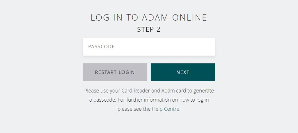 ADAMbank online banking login