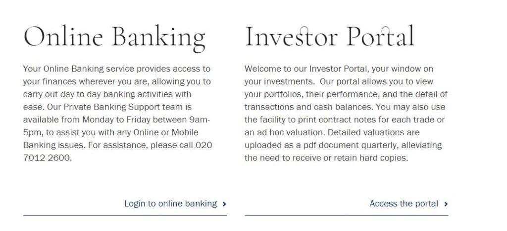 Arbuthnot Latham bank online banking login