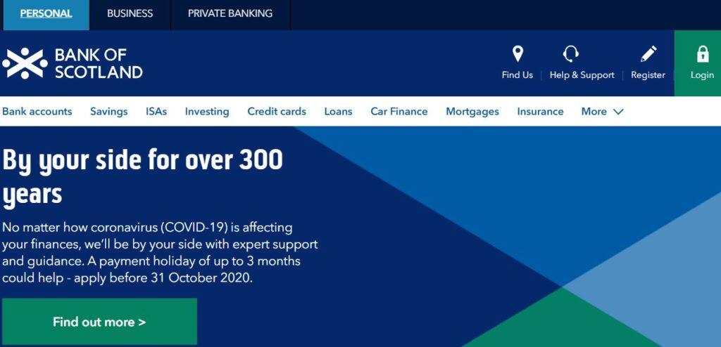 bank of scotland online banking login register