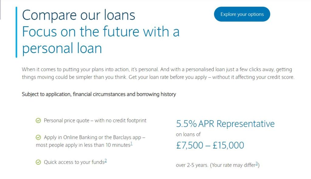 barclays car home mortgage credit loan rates