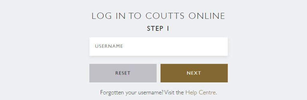 coutts online banking login page