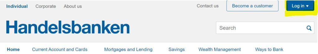 handelsbanken online banking login