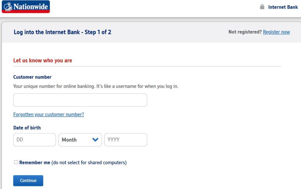 nationwide bank online login