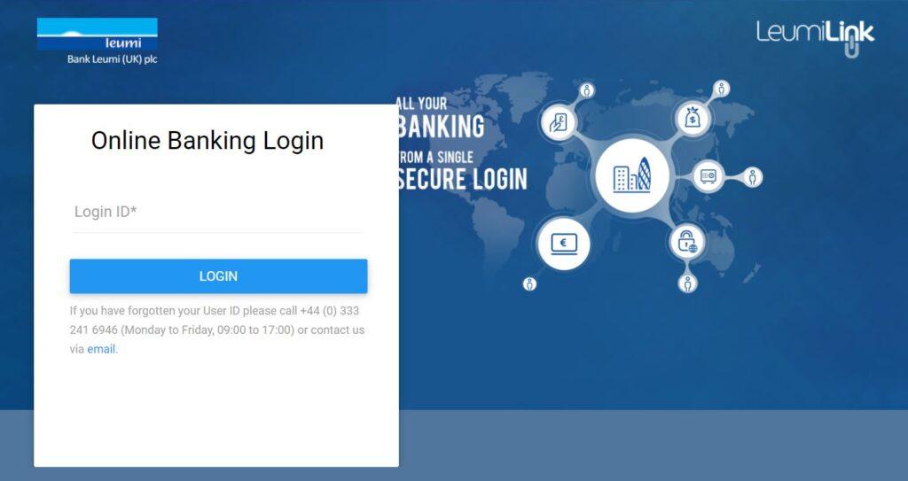 bank leumi online banking login page