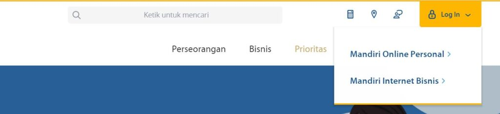 mandiri internet banking login