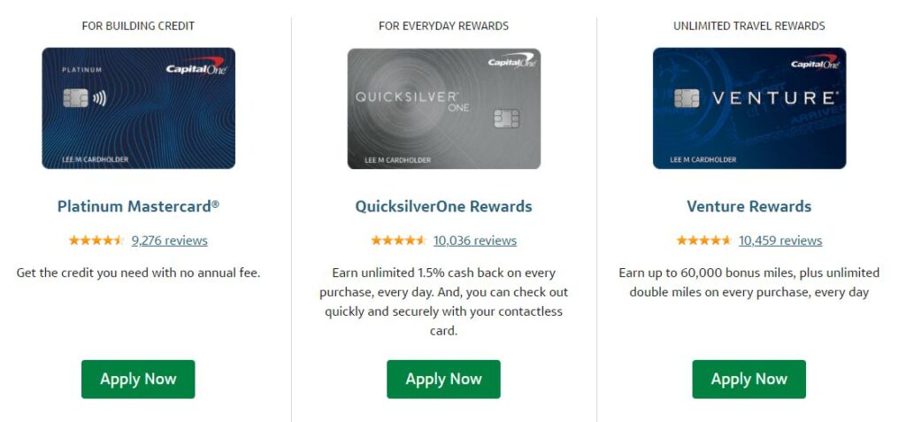 capital one credit card and debit card